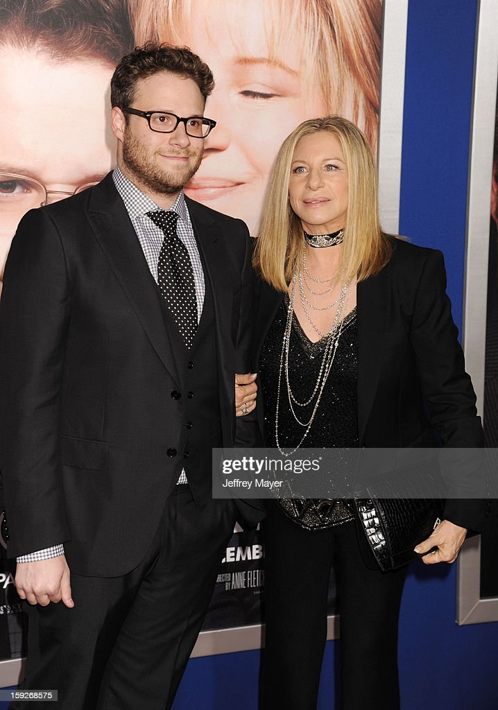 Seth Rogen and Barbra Streisand arrive at the 'The Guilt Trip' - Los Angeles Premiere at Regency Village Theatre on December 11, 2012 in Westwood, California.