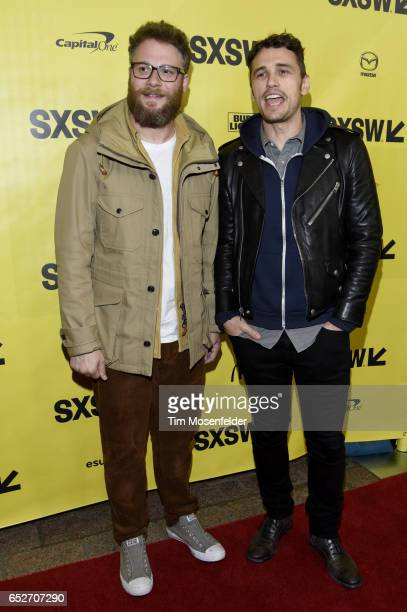 Seth Rogen and James Franco attend the premiere of 'The Disaster Artist' during the 2017 SXSW Conference And Festivals at the Paramount Theater on...