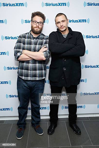 Seth Rogen and James Franco visit the SiriusXM Studios on December 15 2014 in New York City