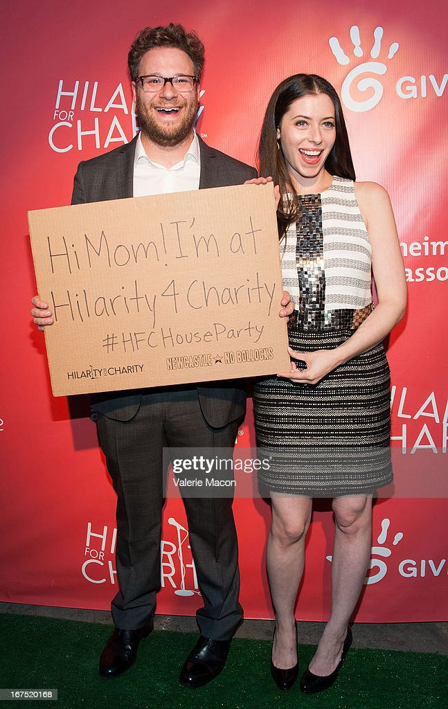 <a gi-track='captionPersonalityLinkClicked' href=/galleries/search?phrase=Seth+Rogen&family=editorial&specificpeople=3733304 ng-click='$event.stopPropagation()'>Seth Rogen</a> and Lauren Miller arrives at the 2nd Annual Hilarity for Charity Event at Avalon on April 25, 2013 in Hollywood, California.
