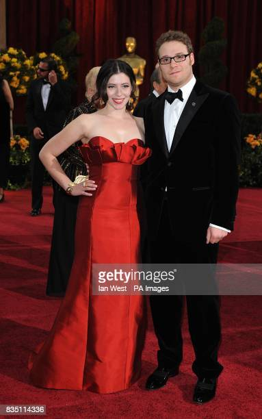 Seth Rogen and Lauren Miller arriving for the 81st Academy Awards at the Kodak Theatre Los Angeles