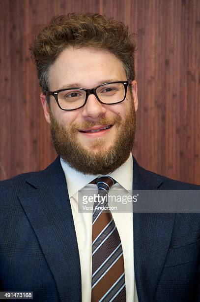 Seth Rogen at the 'Steve Jobs' Press Conference at the Mandarin Oriental Hotel on October 3 2015 in New York City