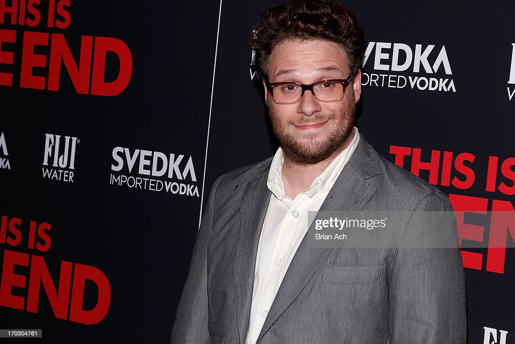 <a gi-track='captionPersonalityLinkClicked' href=/galleries/search?phrase=Seth+Rogen&family=editorial&specificpeople=3733304 ng-click='$event.stopPropagation()'>Seth Rogen</a> attends a special New York screening of Columbia Pictures' 'This Is The End' presented by FIJI water on June 10, 2013 in New York City.