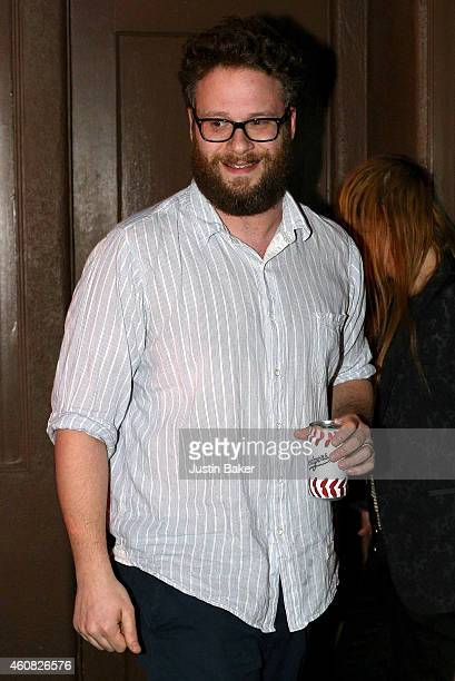 Seth Rogen attends Sony Pictures' 'The Interview' opening on Christmas Day at Cinefamily in Los Angeles CA Sony hackers have released stolen...
