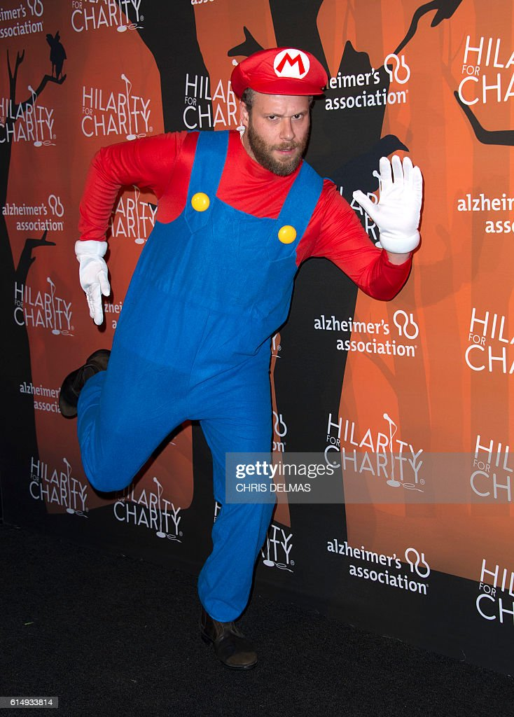 Seth Rogen attends the Hilarity for Charity's 5th annual Variety show at the Palladium in Hollywood, on October 15, 2016. / AFP / CHRIS