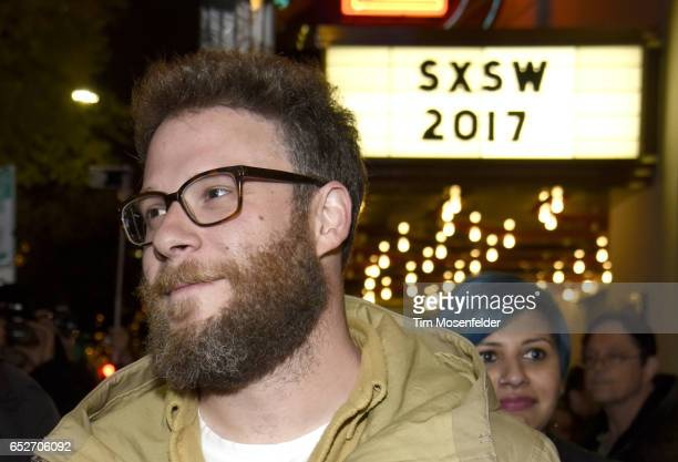 Seth Rogen attends the premiere of 'The Disaster Artist' during the 2017 SXSW Conference And Festivals at the Paramount Theater on March 12 2017 in...