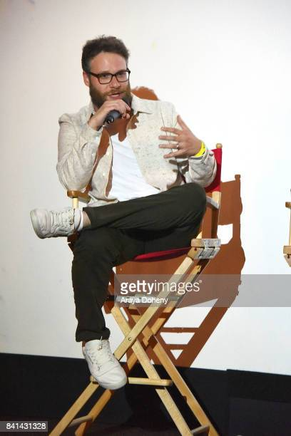 Seth Rogen discusses the And Action program at LA premiere of studentled film project Dumpster Diving at Cinemark Playa Vista and XD Visit...