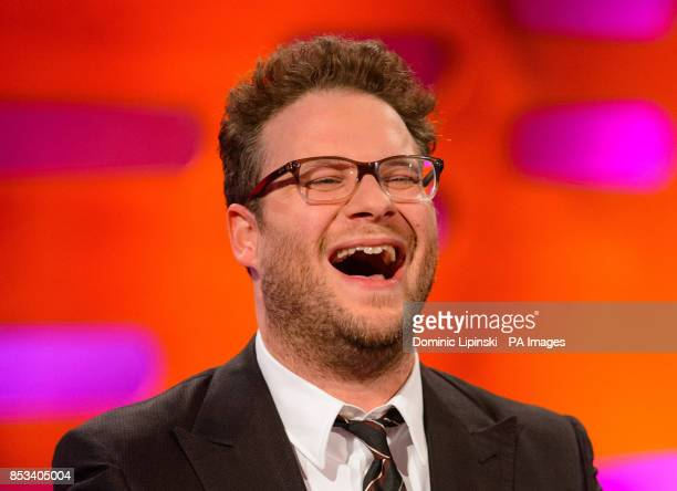 Seth Rogen during filming of the Graham Norton Show at the London Studios central London to be aired on BBC One on Friday evening
