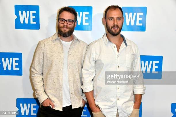 Seth Rogen Evan Goldberg attends the Premiere of And Action's 'Dumpster Diving' at Cinemark Playa Vista on August 31 2017 in Los Angeles California
