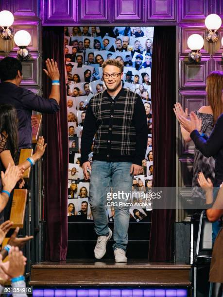 Seth Rogen greets the audience during 'The Late Late Show with James Corden' Wednesday June 21 2017 On The CBS Television Network