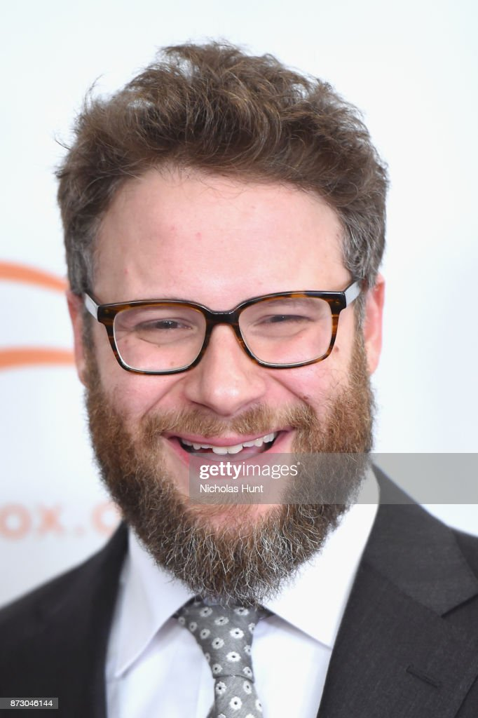 Seth Rogan on the red carpet of A Funny Thing Happened On The Way To Cure Parkinson's benefitting The Michael J. Fox Foundation at the Hilton New York on November 11, 2017.