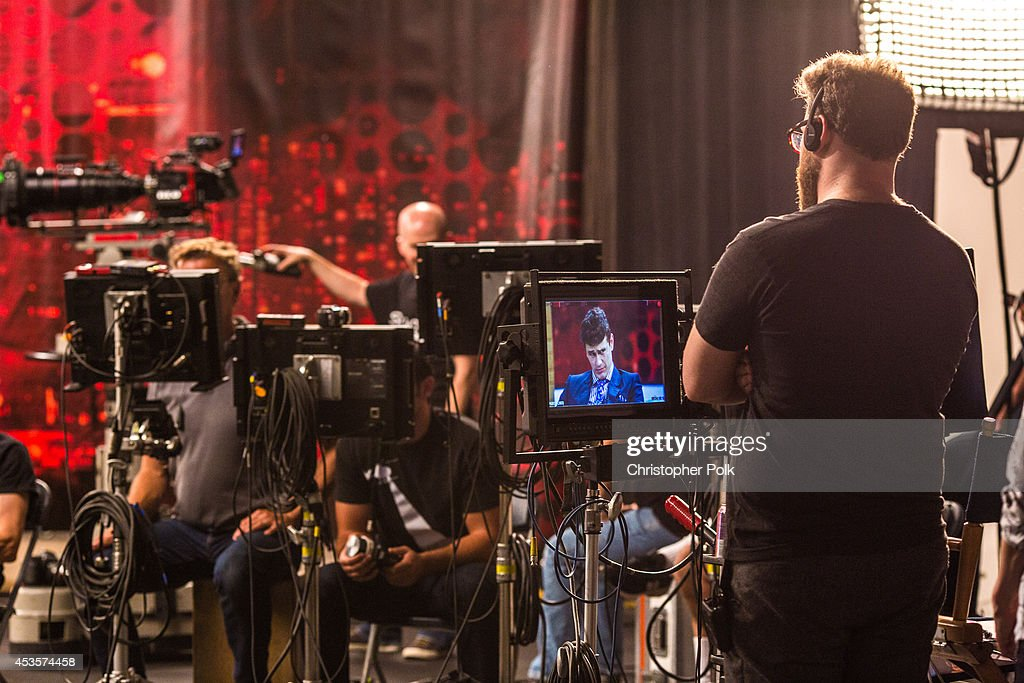 Seth Rogen on the set of 'Dave Skylark's Very Special VMA Special' on August 2 2014 in Los Angeles California The show will air Sunday August 17 at...
