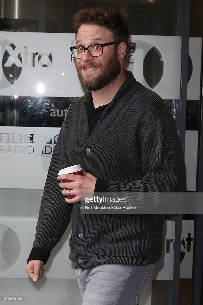 Seth Rogen seen at BBC Radio One on April 25 2016 in London England