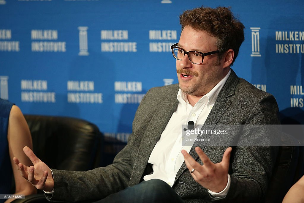 Seth Rogen speaks onstage at the 2016 Milken Institute Global Conference on May 04, 2016 in Beverly Hills, California.