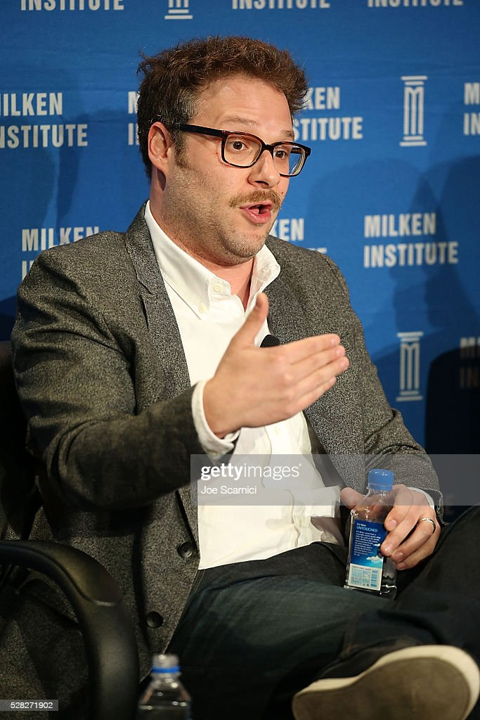 <a gi-track='captionPersonalityLinkClicked' href=/galleries/search?phrase=Seth+Rogen&family=editorial&specificpeople=3733304 ng-click='$event.stopPropagation()'>Seth Rogen</a> speaks onstage at the 2016 Milken Institute Global Conference on May 04, 2016 in Beverly Hills, California.