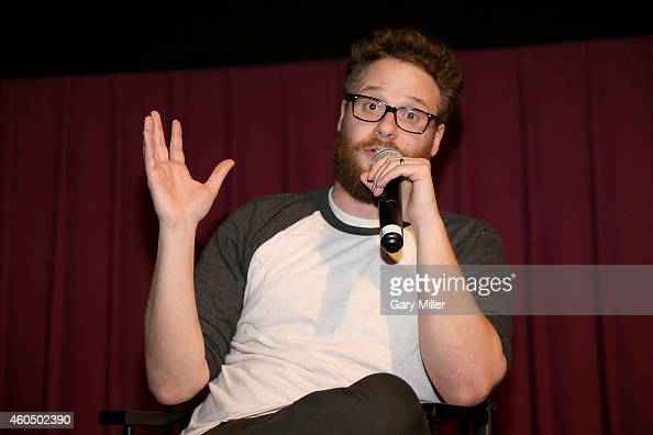 Seth Rogen speaks to the audience after a screening of The Interview during Harry Knowles and Ain't It Cool New's ButtNumbAThon 16 at Alamo...