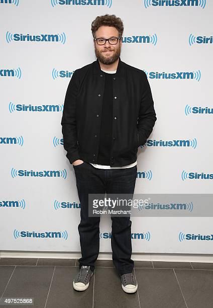 Seth Rogen visits at SiriusXM Studios on November 17 2015 in New York City
