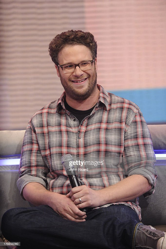 <a gi-track='captionPersonalityLinkClicked' href=/galleries/search?phrase=Seth+Rogen&family=editorial&specificpeople=3733304 ng-click='$event.stopPropagation()'>Seth Rogen</a> visits BET's '106 & Park' at BET Studios on June 10, 2013 in New York City.