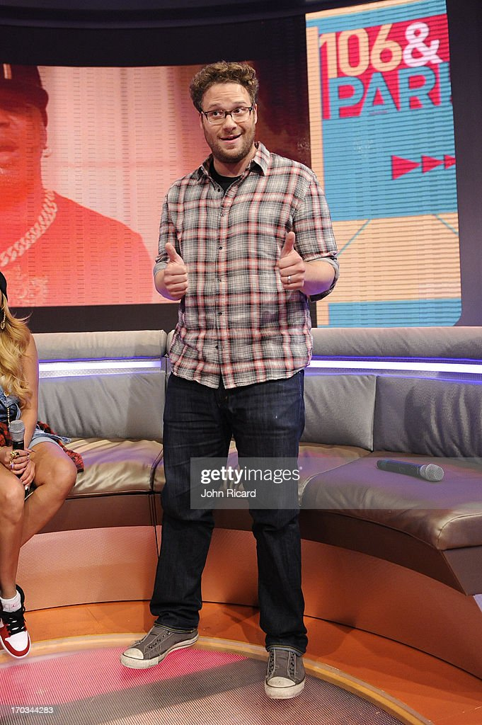 Seth Rogen visits BET's '106 & Park' at BET Studios on June 10, 2013 in New York City.