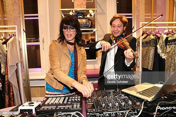 Seth Schwarz and singer Nena during the Talbot Runhof flagship boutique opening at Preysing Palais on October 14 2015 in Munich Germany