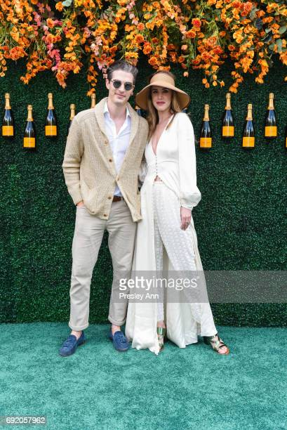 Seth Tringale and Julia Loomis attend The Tenth Annual Veuve Clicquot Polo Classic Arrivals at Liberty State Park on June 3 2017 in Jersey City New...