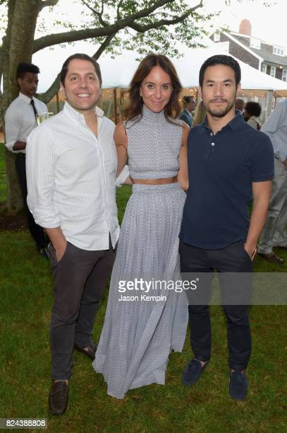 Seth Weissman Alison Loehnis and Joseph Altuzarra attend The GOOD Foundation's Hamptons Summer Dinner cohosted by NETAPORTER on July 29 2017 in East...