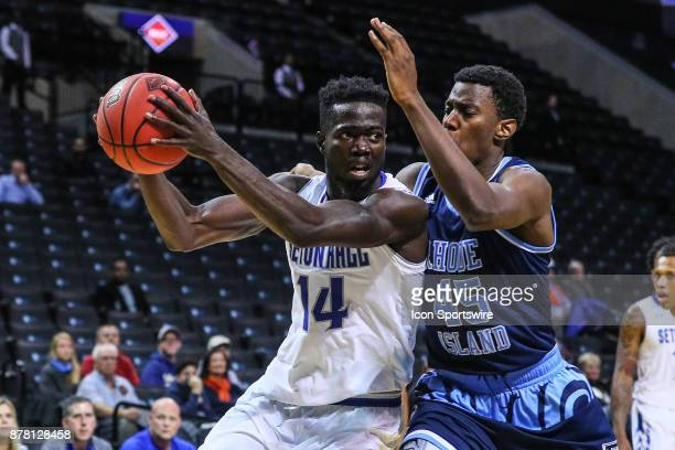 Seton Hall Pirates forward Ismael Sanogo during the first half of the NIT Season Tip Off College Basketball game between the Seton Hall Pirates and...