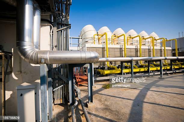 Séries de tours de refroidissement de systèmes de climatisation