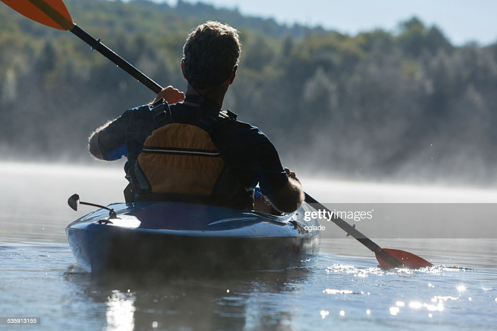 Establecer en Kayak : Foto de stock