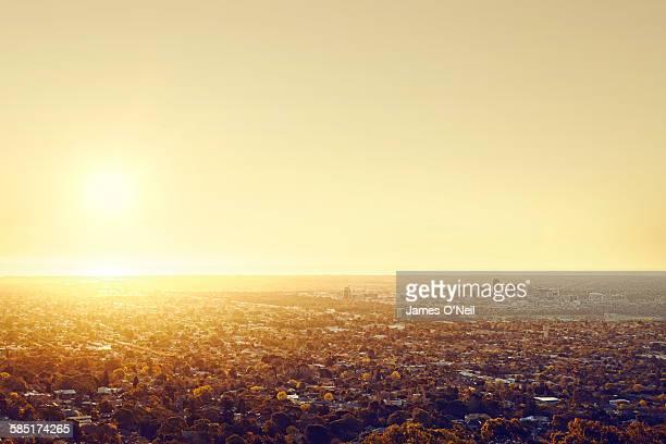 Setting Sun Over Adelaide