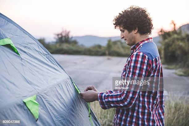 Einrichtung das Zelt