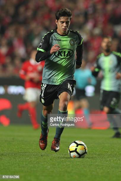 Setubal's midfielder Andre Sousa from Portugal during the match between SL Benfica and FC Vitoria Setubal for the Portuguese Cup at Estadio da Luz on...