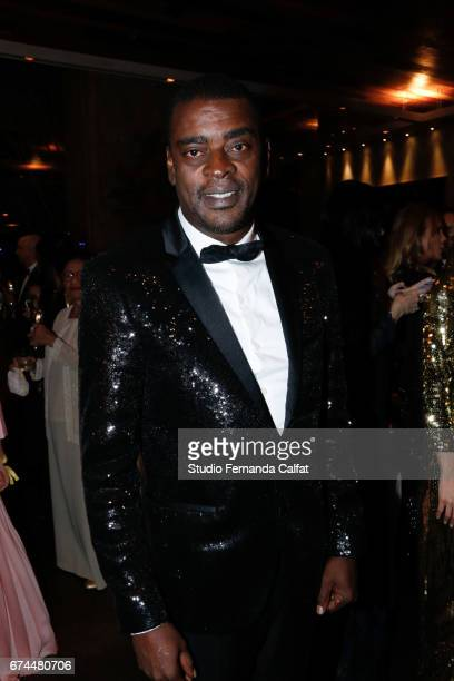 Seu Jorge attends the 7th Annual amfAR Inspiration Gala on April 27 2017 in Sao Paulo Brazil
