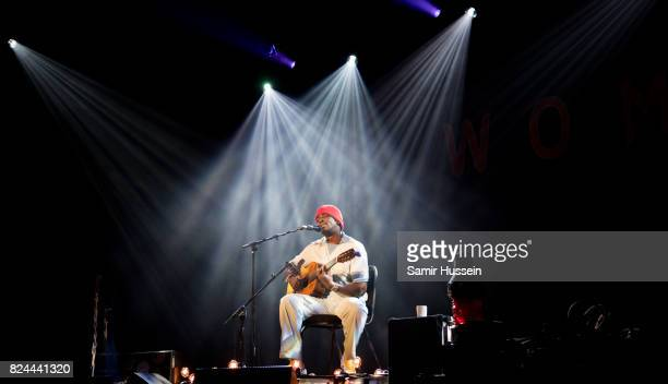 Seu Jorge performs at Womad Festival at Charlton Park on July 29 2017 in Wiltshire England