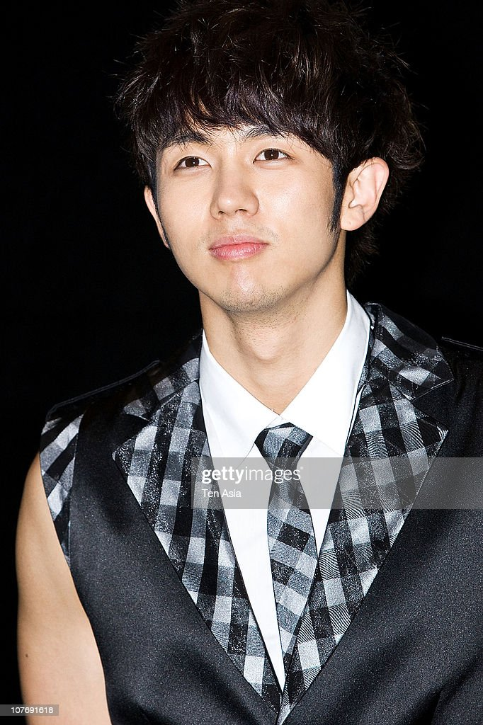 Seul-Ong of 2AM poses for photographs on March 15, 2010 in Seoul, South Korea.