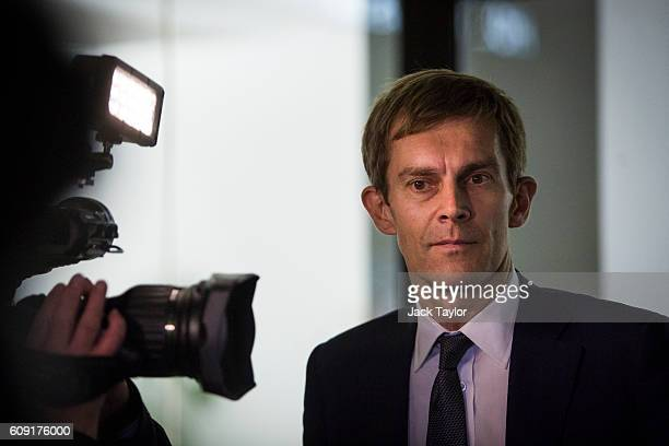 Seumas Milne the Labour Party's Executive Director of Strategy and Communications leaves the Labour party headquarters following a meeting of the...
