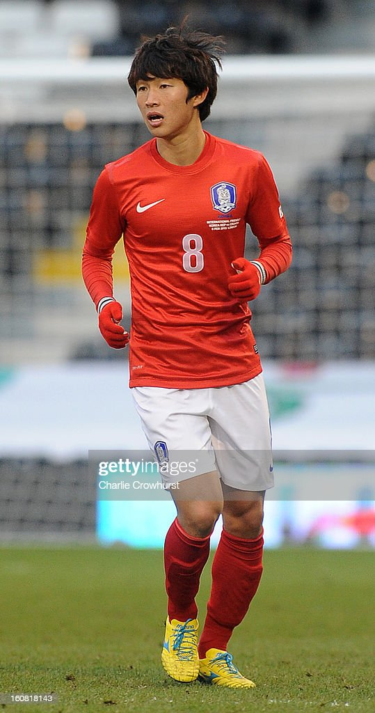 Seung-Gi Lee of Korea Republic during the International Friendly match between Croatia and Korea Republic at Craven Cottage on February 6, 2013 in London, England.