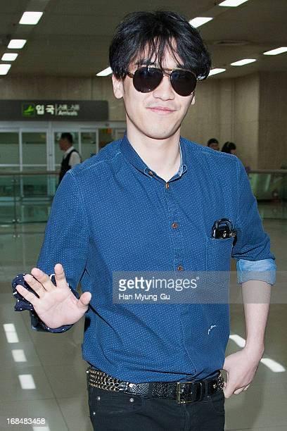 Seungri of South Korean boy band Bigbang is seen at Gimpo International Airport on May 10 2013 in Seoul South Korea