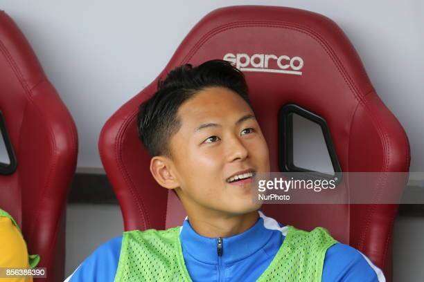 SeungWoo Lee before the Serie A football match between Torino FC and Hellas Verona FC at Olympic Grande Torino Stadium on 1 October 2017 in Turin...