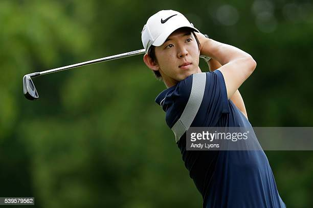 SeungYul Noh hits off the second tee during the final round of the FedEx St Jude Classic at TPC Southwind on June 12 2016 in Memphis Tennessee