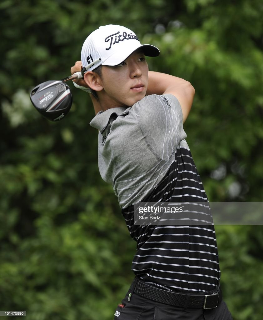 Seung-Yul Noh of South Korea hits a drive on the fifth hole during the second round of the BMW Championship at Crooked Stick Golf Club on September 7, 2012 in Carmel, Indiana.