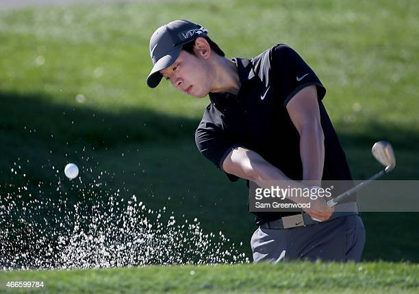 SeungYul Noh of South Korea plays a shot during a practice round for the Arnold Palmer Invitational Presented By MasterCard at the Bay Hill Club and...