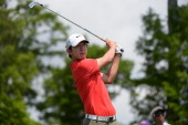 SeungYul Noh tees off on the 3rd during the Final Round of the Zurich Classic of New Orleans at TPC Louisiana on April 27 2014 in Avondale Louisiana