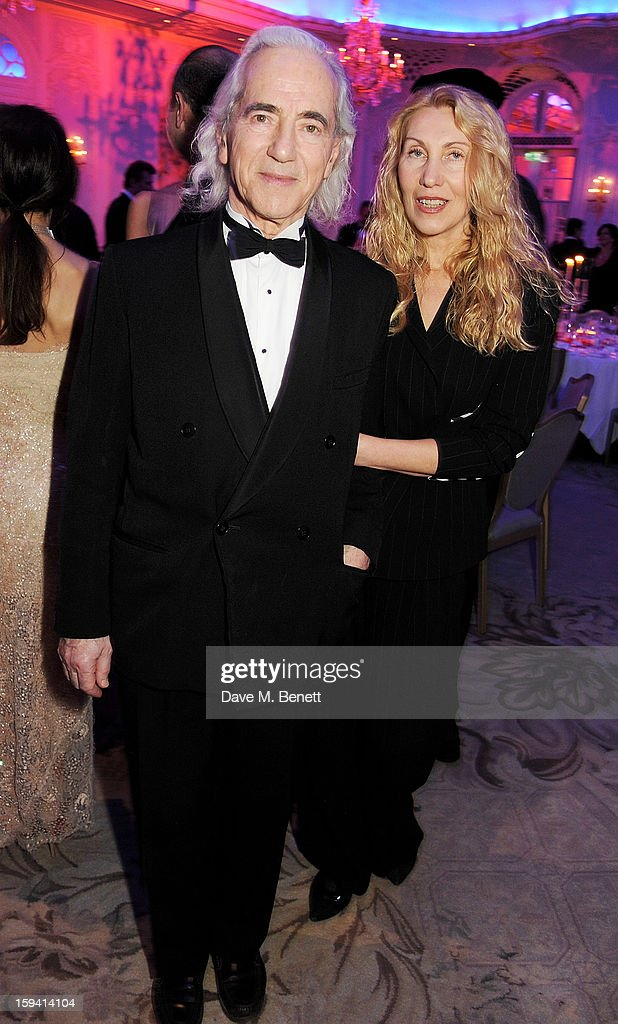 Seva Novgorodsev (L) and Olga Novgorodsev attend a gala evening celebrating Old Russian New Year's Eve in aid of the Gift Of Life Foundation at The Savoy Hotel on January 13, 2013 in London, England.