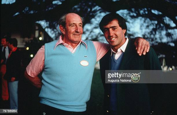 Seve Ballesteros And His Father At The 1983 Masters Tournament