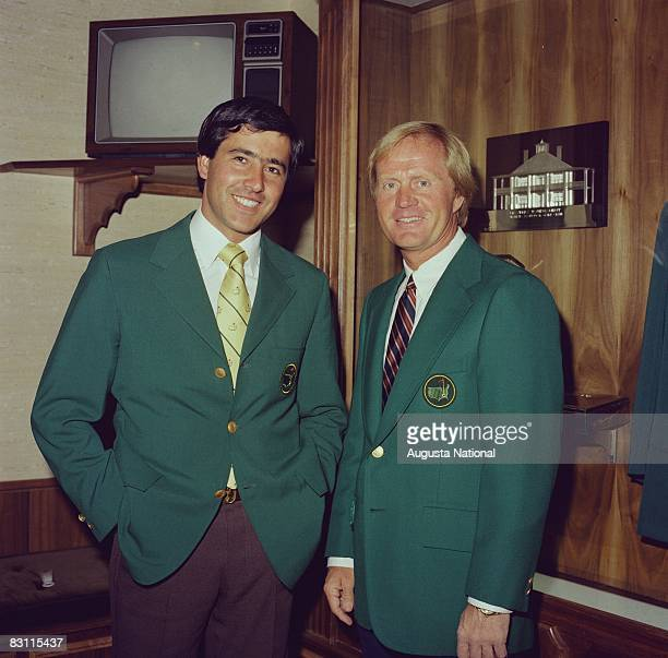 Seve Ballesteros And Jack Nicklaus At The Champions Dinner Of The 1981 Masters Tournament
