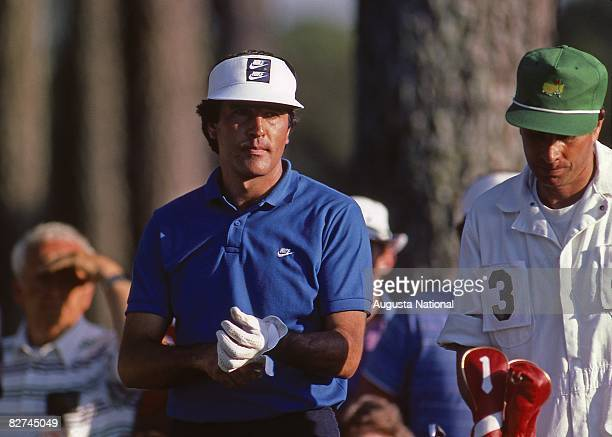 Seve Ballesteros during the 1986 Masters Tournament at Augusta National Golf Club on April 1013 1986 in Augusta Georgia