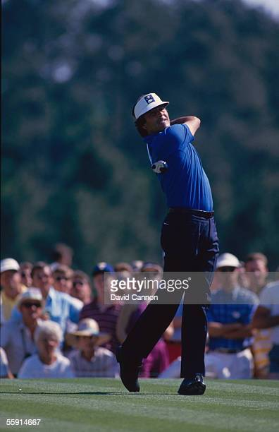 Seve Ballesteros of Spain in action during the 1986 US Masters held on April 13 1986 at the Augusta National Golf Club in Augusta Georgia