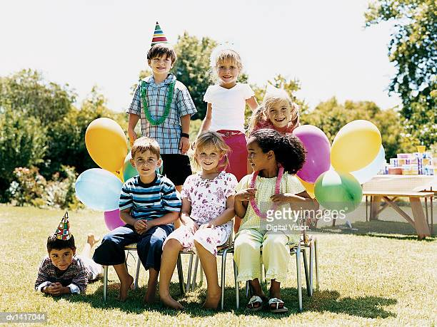 Seven Children at a Birthday Party