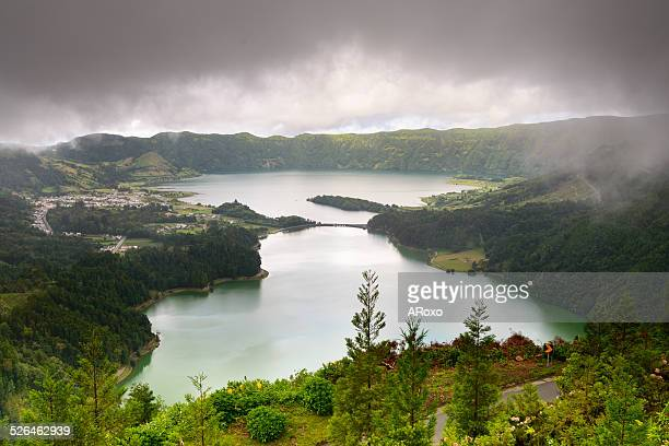 Seven Cities Lagoon in the Azores